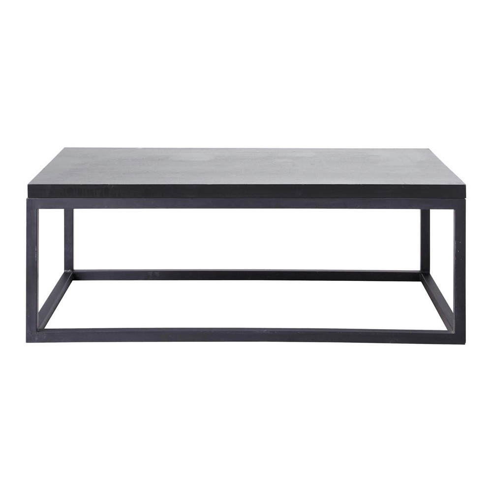 table basse indus noire carbone maisons du monde. Black Bedroom Furniture Sets. Home Design Ideas