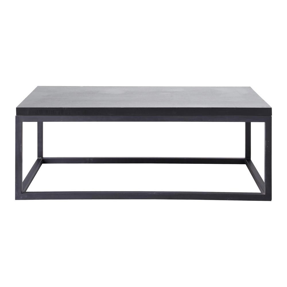 table basse indus noire carbone maisons du monde. Black Bedroom Furniture Sets. Home Design Ideas