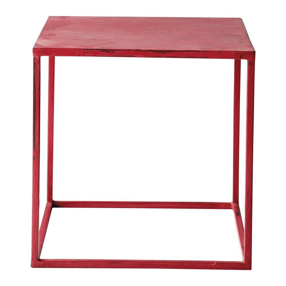 table basse indus rouge edison maisons du monde. Black Bedroom Furniture Sets. Home Design Ideas