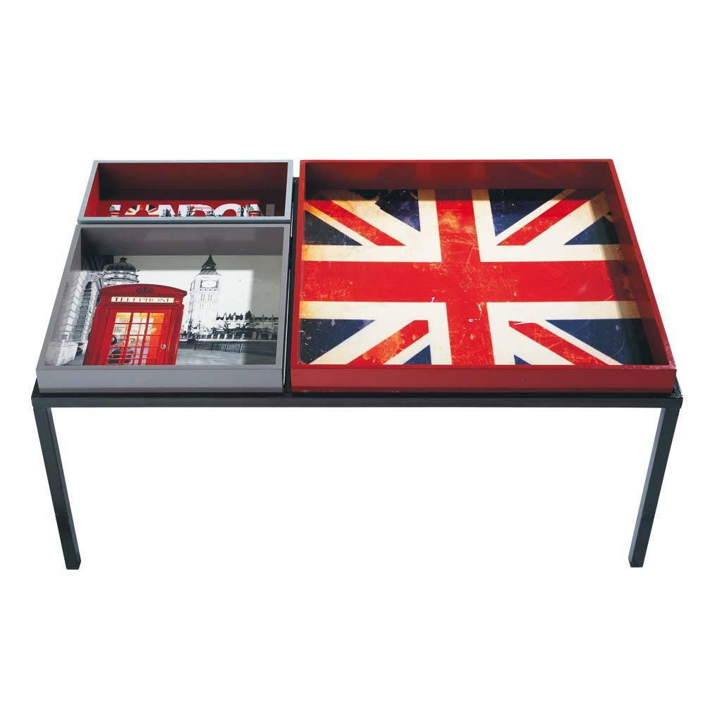 Table basse london maisons du monde - Bureau drapeau anglais ...