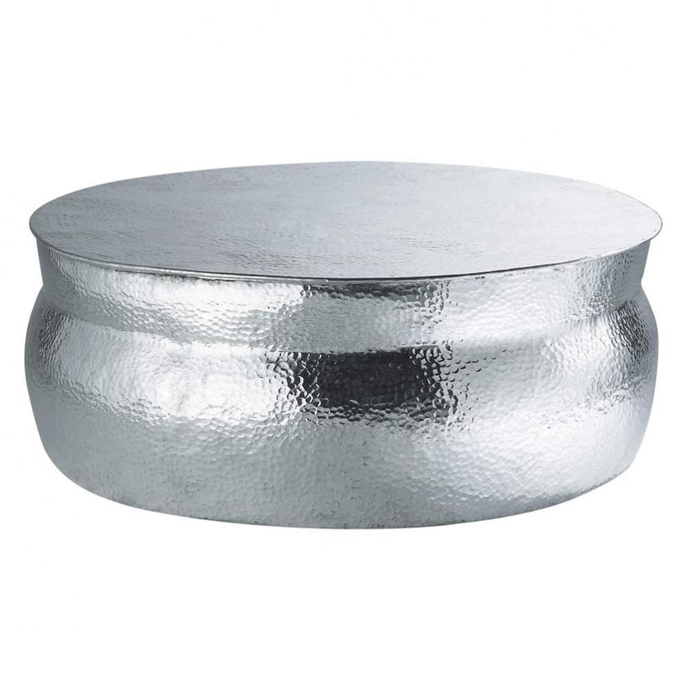 Table basse ronde en aluminium d 91 cm nomade maisons du for Table basse maison du monde