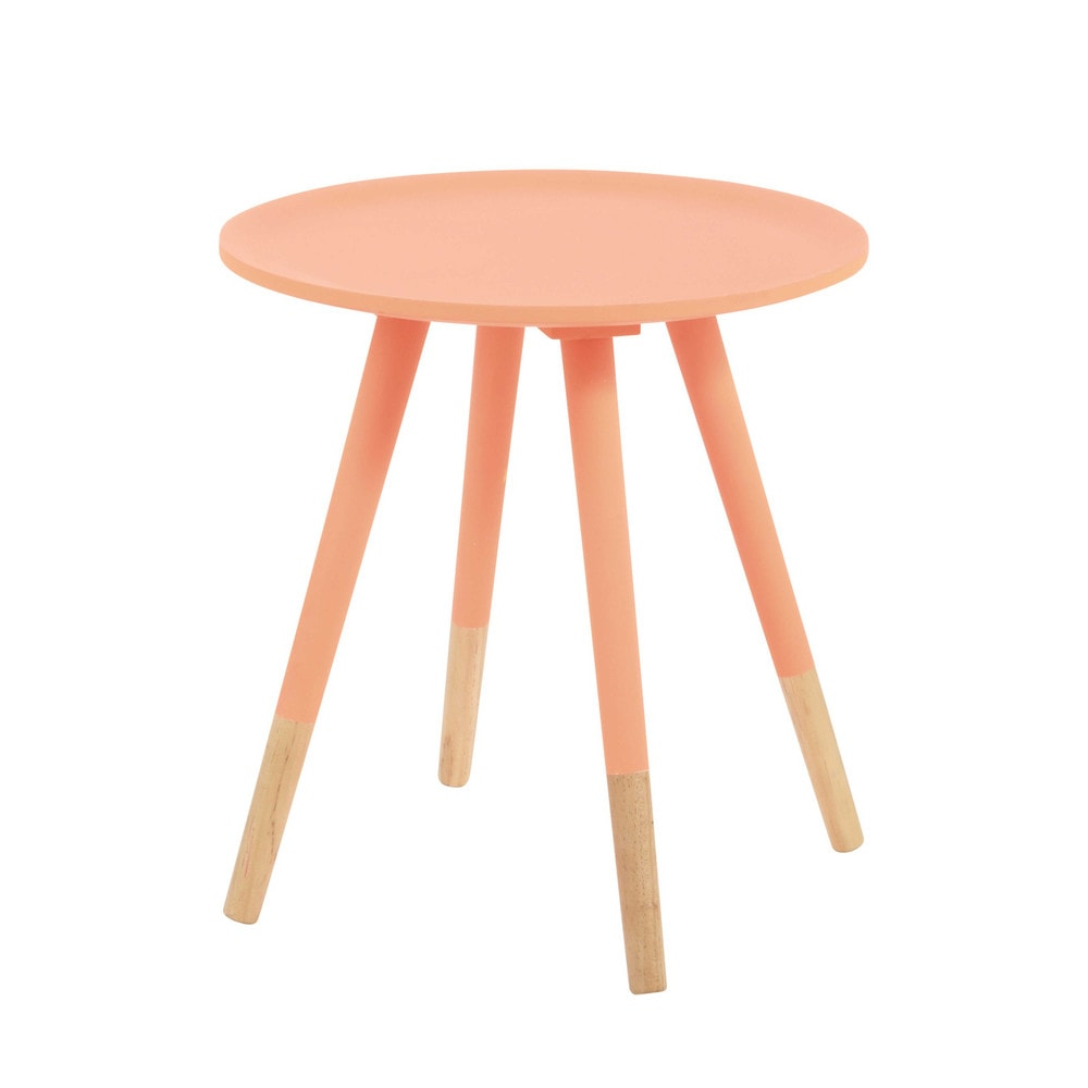 table basse vintage en bois orange fluo l 40 cm dekale maisons du monde. Black Bedroom Furniture Sets. Home Design Ideas
