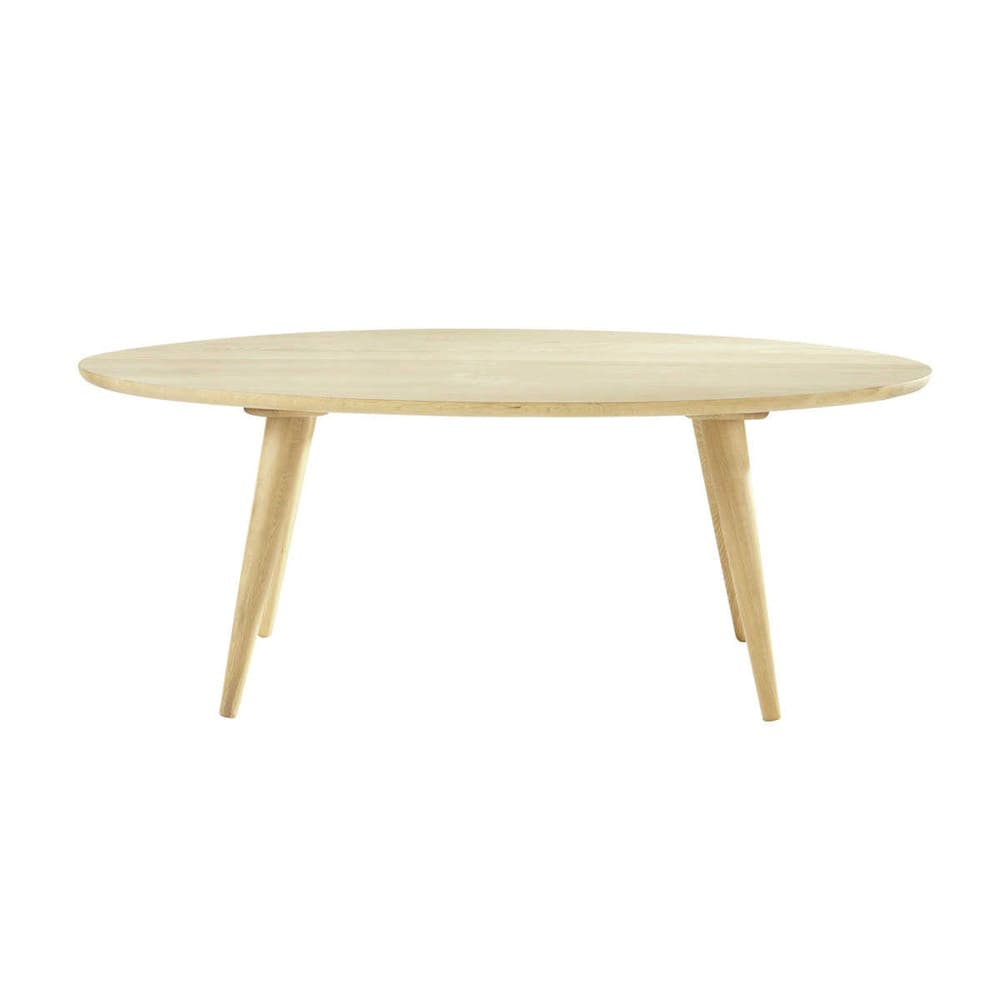 Table basse vintage en ch ne massif l 120 cm norway maisons du monde - Table basse en chene massif ...