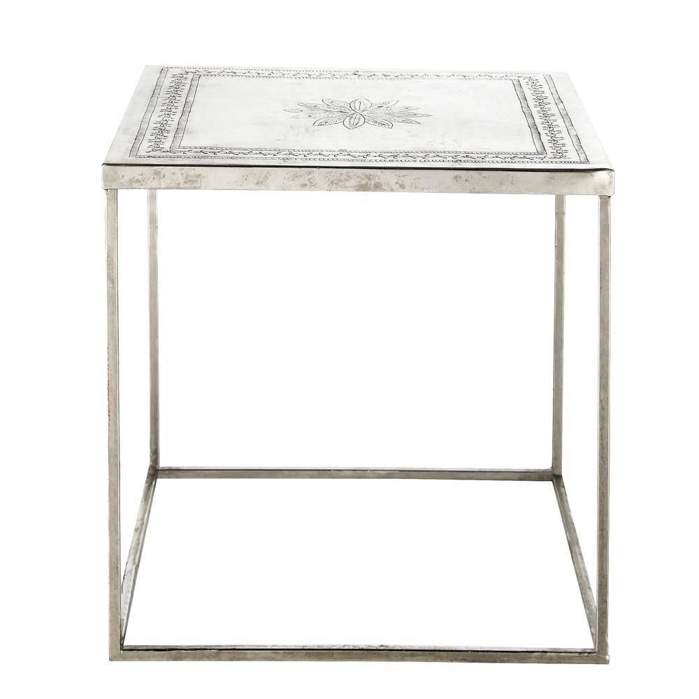 Table Bout De Canap M Tal Sidi Maisons Du Monde