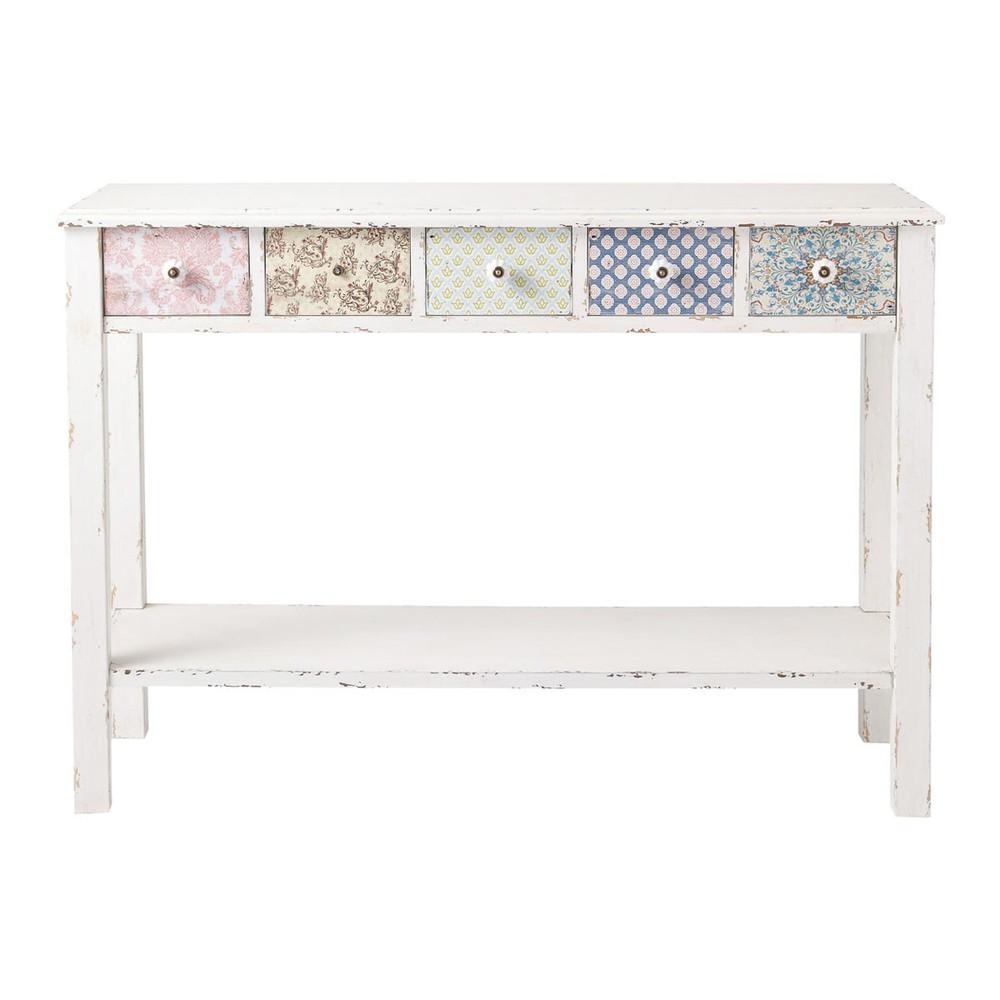 Table console blanche c lestine maisons du monde - Console meuble maison du monde ...