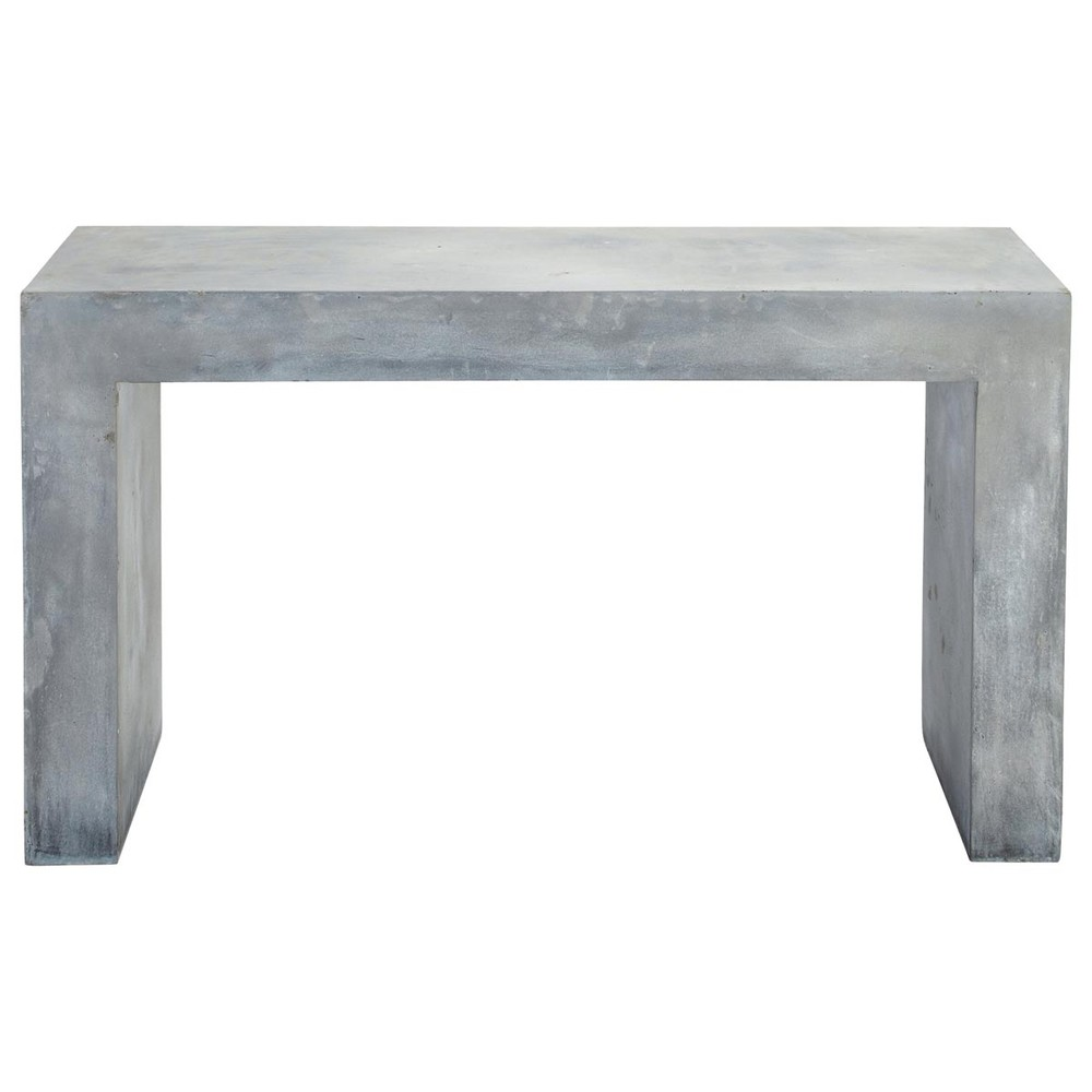 table console effet b ton en magn sie grise l 135 cm mineral maisons du monde. Black Bedroom Furniture Sets. Home Design Ideas