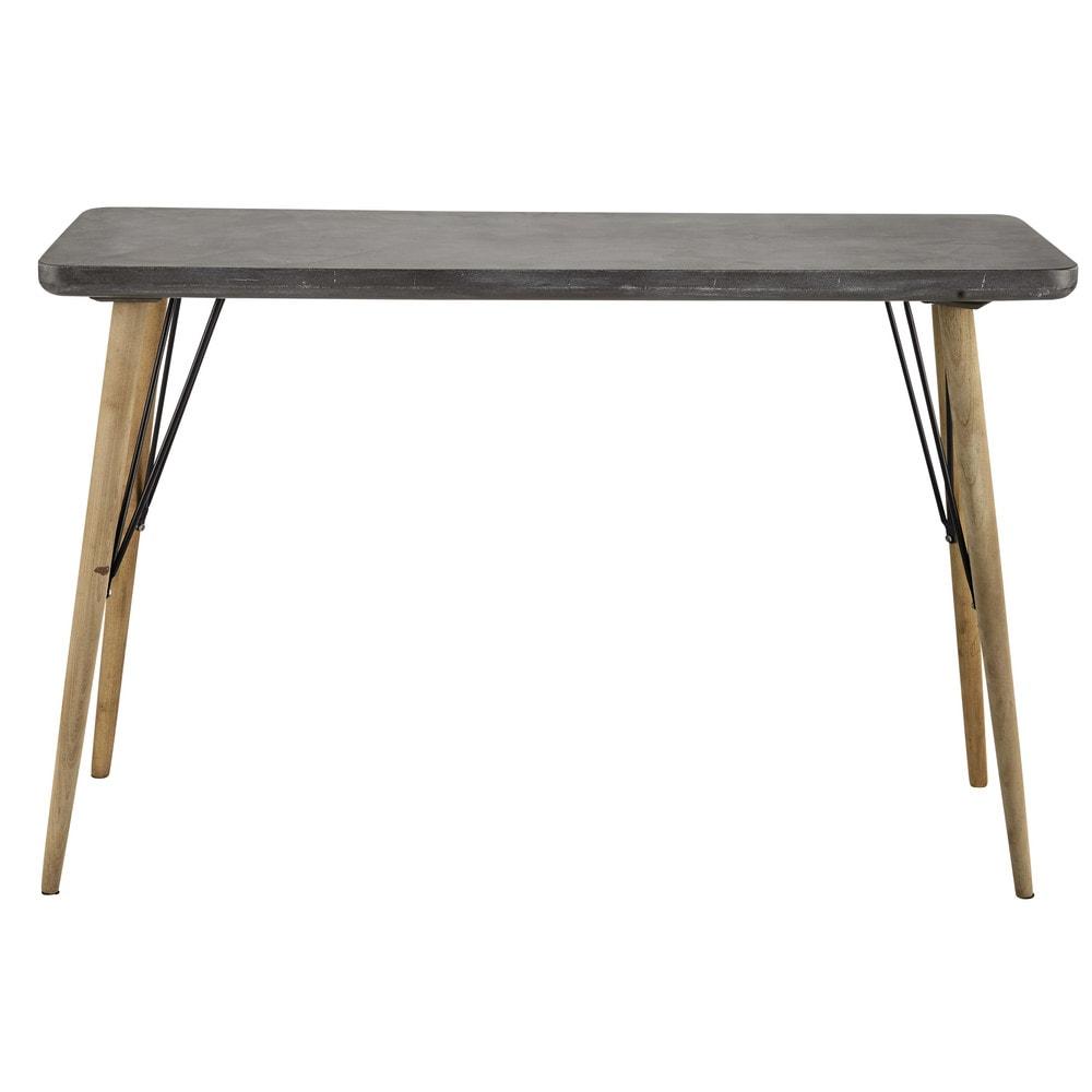 Table console grise cleveland maisons du monde - Petite table maison du monde ...