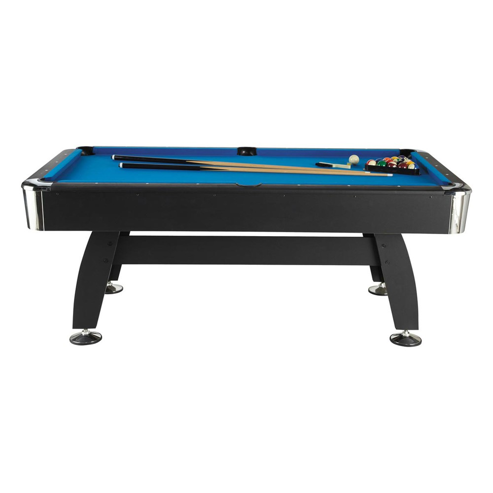 table de billard en m tal et bois bleue 117 x 213 cm vegas maisons du monde. Black Bedroom Furniture Sets. Home Design Ideas