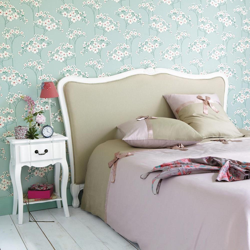 Table de chevet avec tiroir en bois de paulownia blanche l 44 cm jos phine maisons du monde - Testate letto maison du monde ...