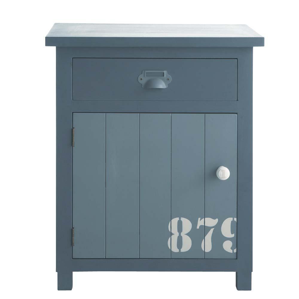 table de chevet avec tiroir en bois grise l 34 cm cargo. Black Bedroom Furniture Sets. Home Design Ideas