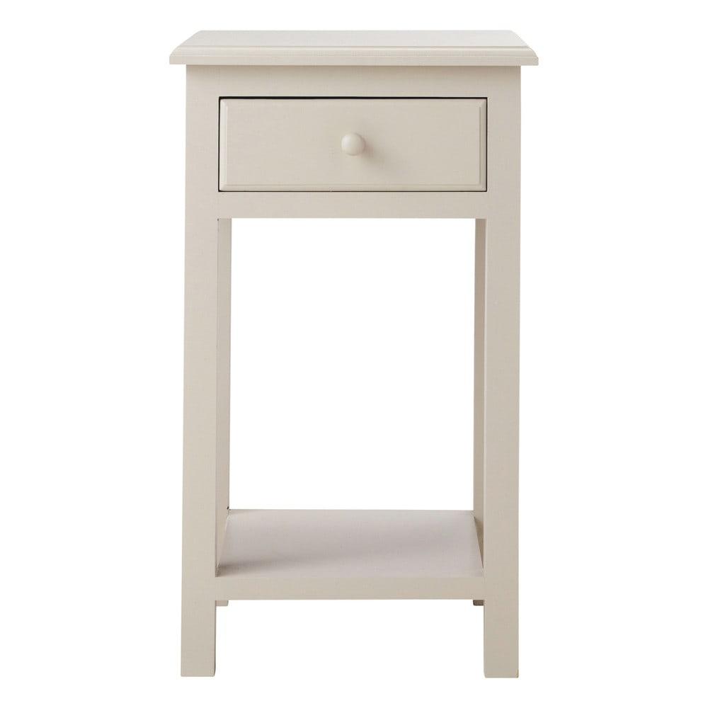 Table de chevet avec tiroir en bois taupe l 35 cm pastel maisons du monde - Table de chevet couleur taupe ...