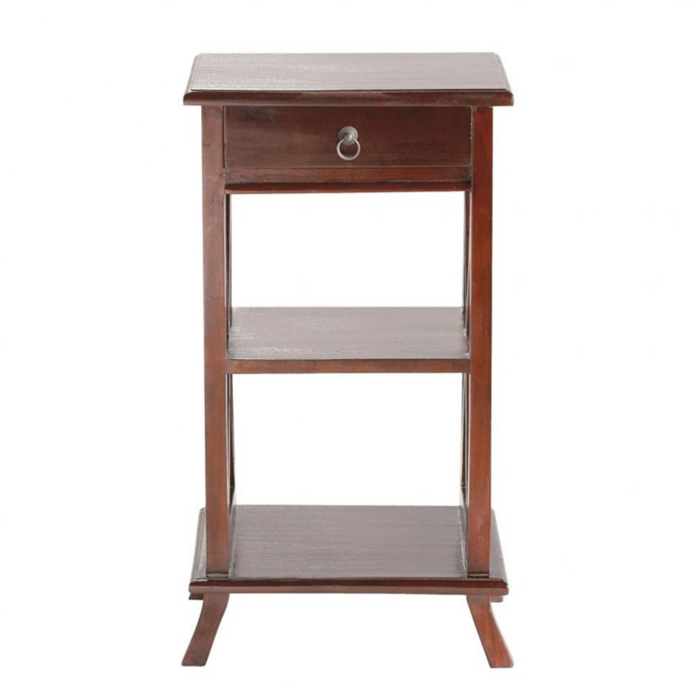 Table de chevet avec tiroir en mahogany massif l 40 cm for Table de chevet bebe