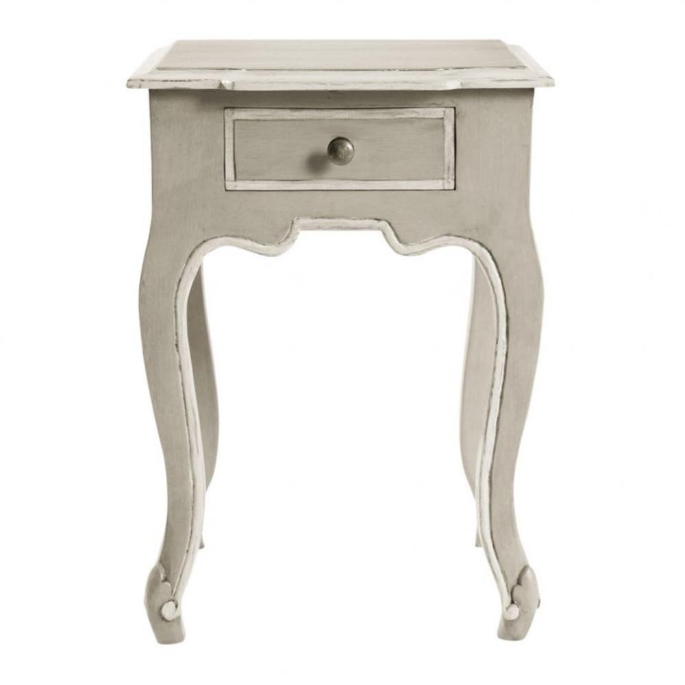 Table de chevet avec tiroir en manguier grise l 40 cm beaumanoir maisons du - Maisons du monde chevet ...