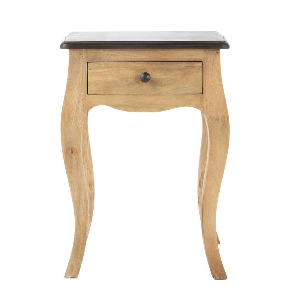 table de chevet avec tiroir en manguier l 42 cm montaigne maisons du monde. Black Bedroom Furniture Sets. Home Design Ideas