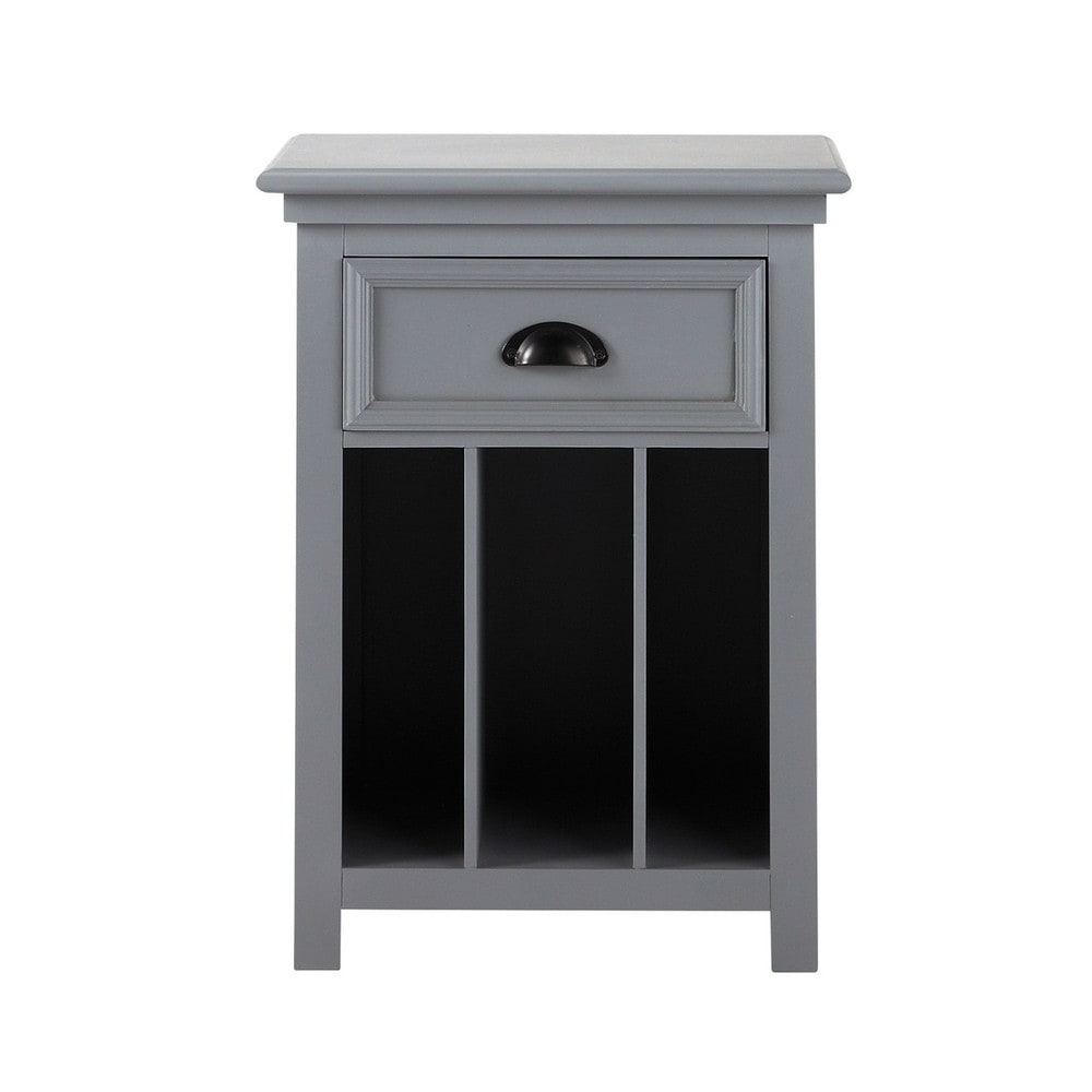 table de chevet avec tiroir en pin gris l 45 cm newport maisons du monde. Black Bedroom Furniture Sets. Home Design Ideas