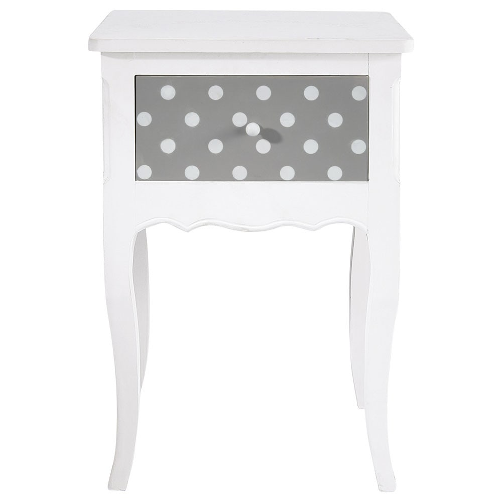 Table de chevet enfant avec tiroir en bois blanc l 42 cm for Table de chevet bebe