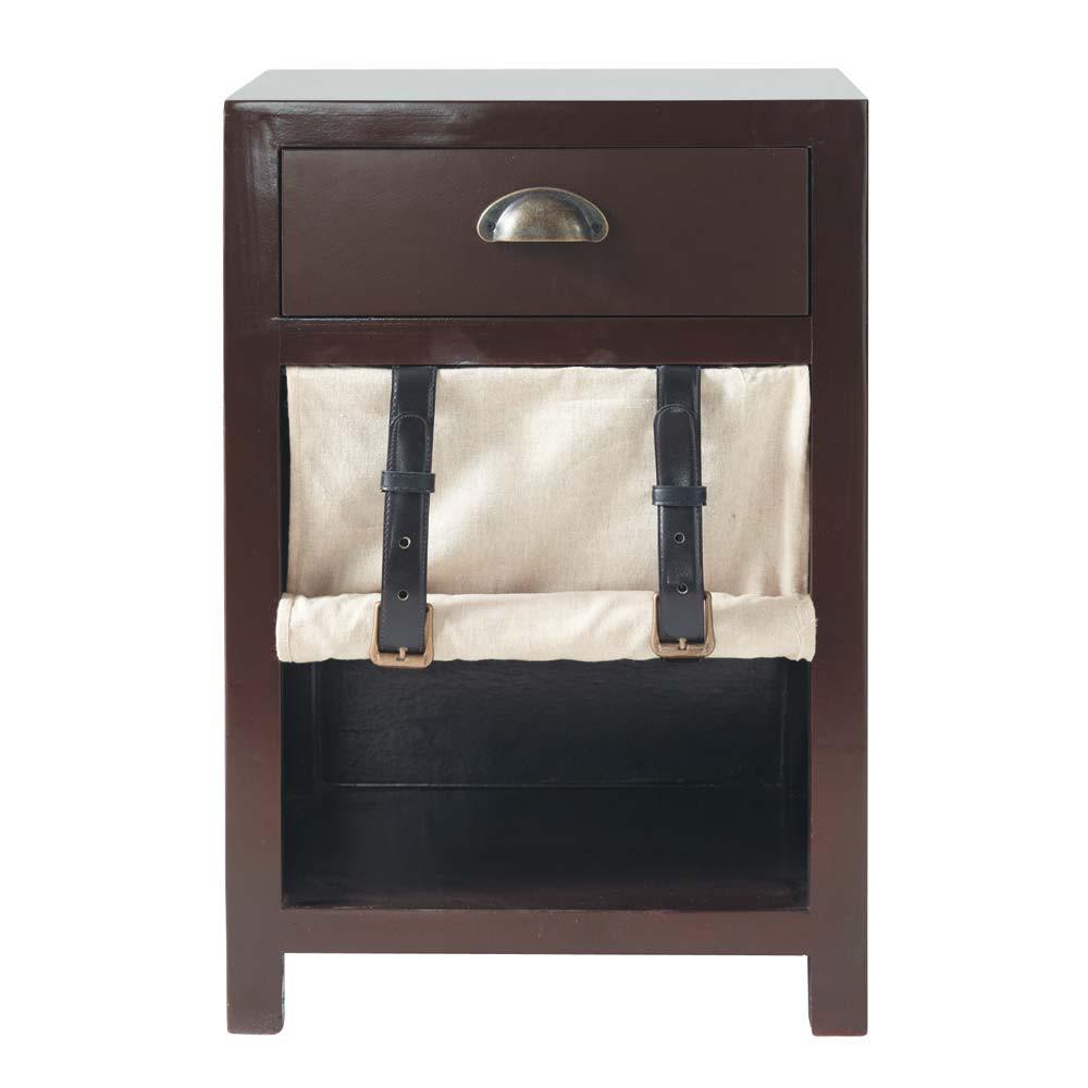 table de chevet enfant avec tiroir en bois teint l 40 cm phileas fogg maisons du monde. Black Bedroom Furniture Sets. Home Design Ideas