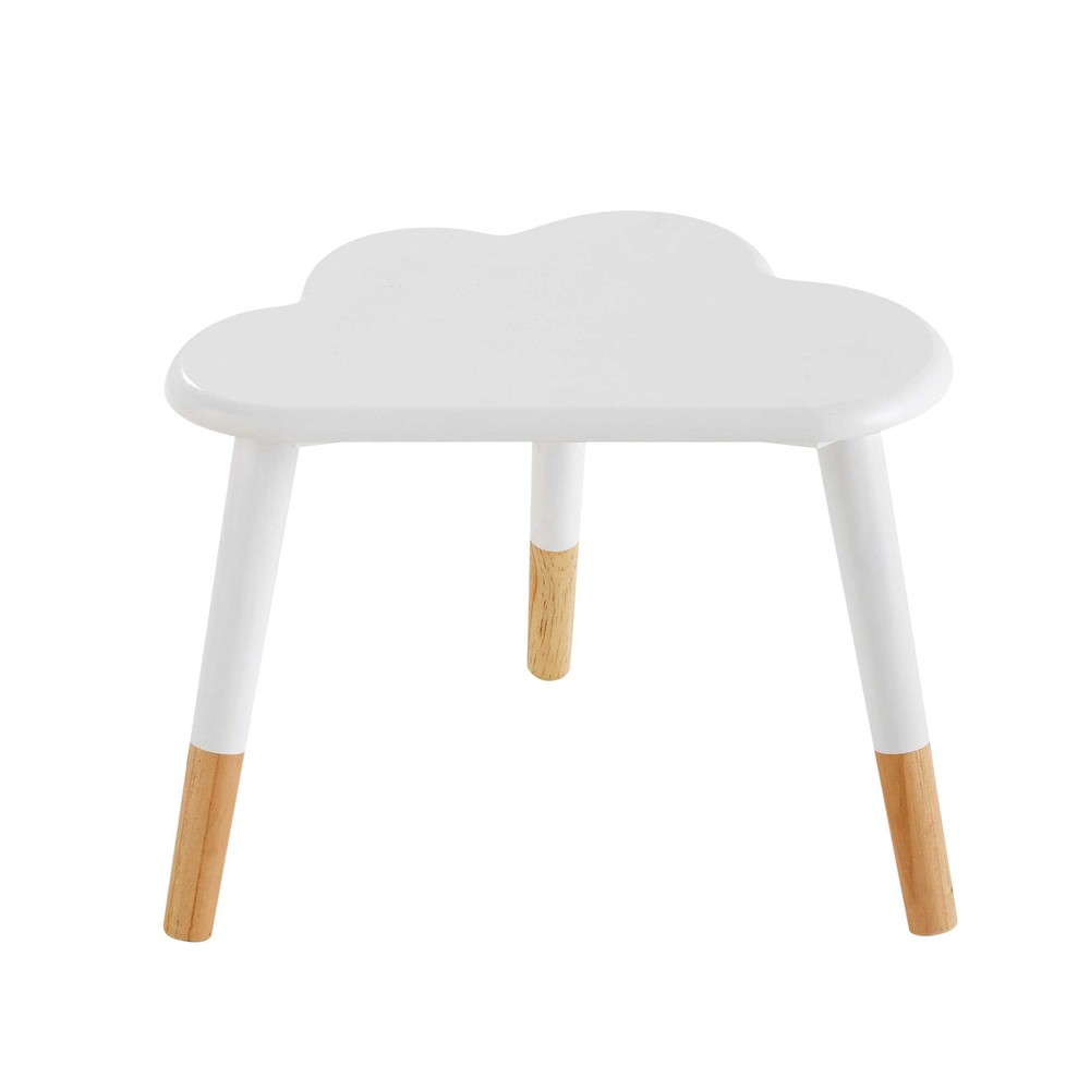 table de chevet enfant nuage blanche nuage maisons du monde. Black Bedroom Furniture Sets. Home Design Ideas