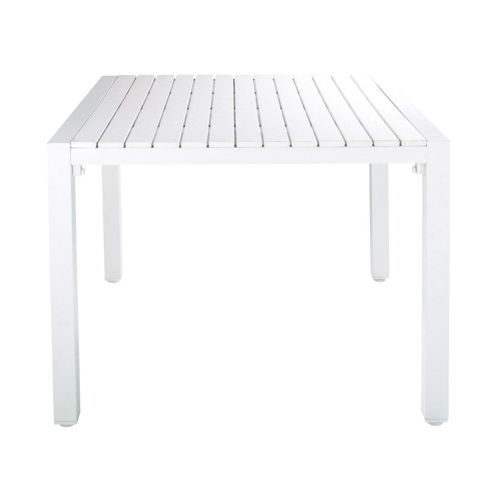 table de jardin en aluminium blanc l 100 cm portofino maisons du monde. Black Bedroom Furniture Sets. Home Design Ideas