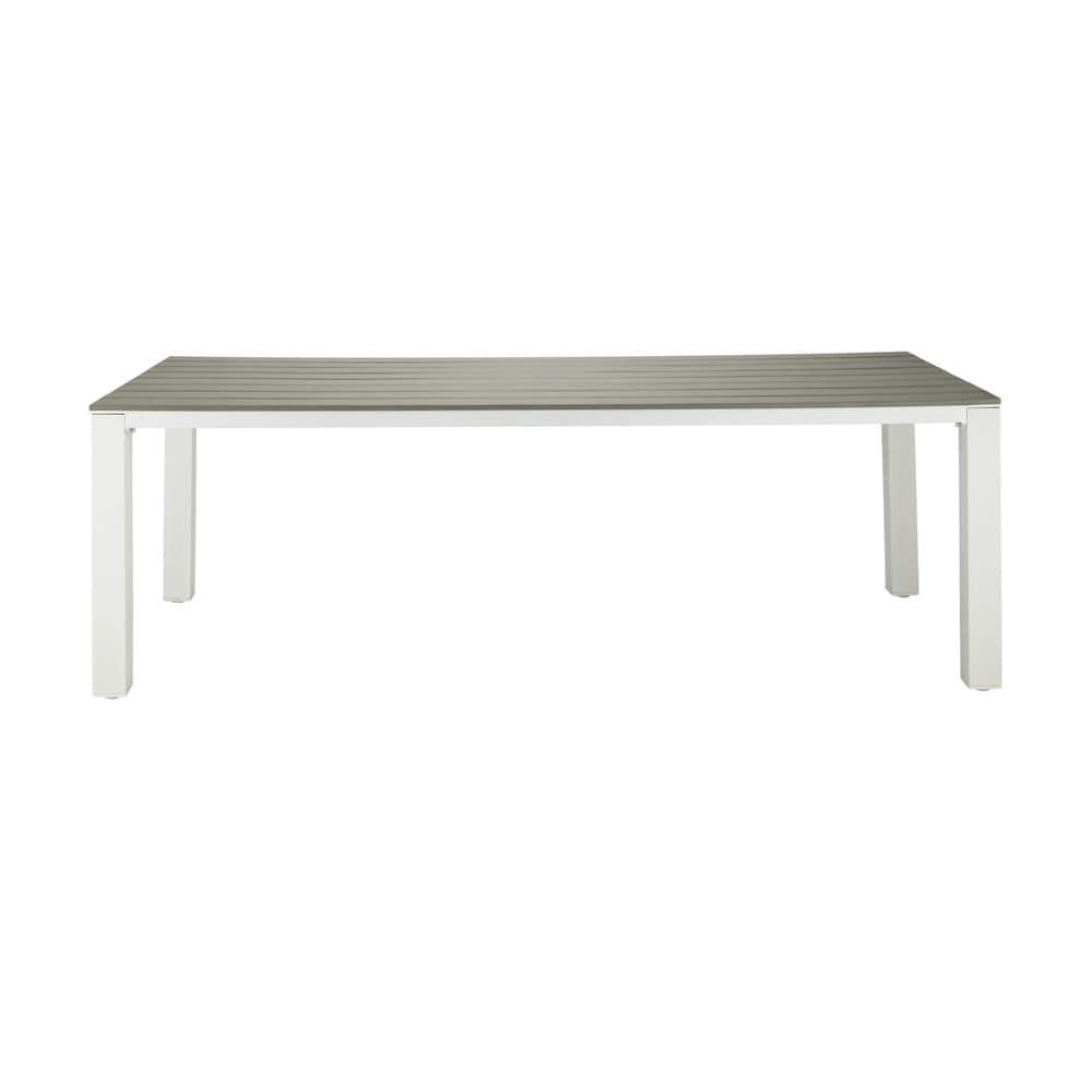 Table de jardin en aluminium gris clair l 230 cm escale for Table jardin gris clair