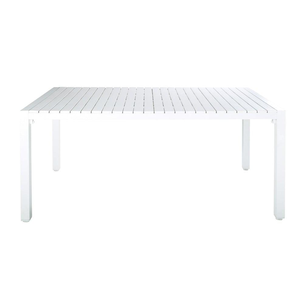Table de jardin en composite imitation bois et aluminium blanche l 180 cm por - Composite imitation bois ...