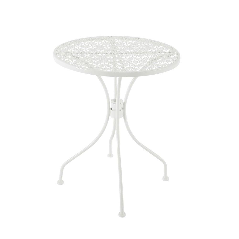 Table De Jardin En M Tal Ajour Blanche D 60 Cm Suzon Maisons Du Monde