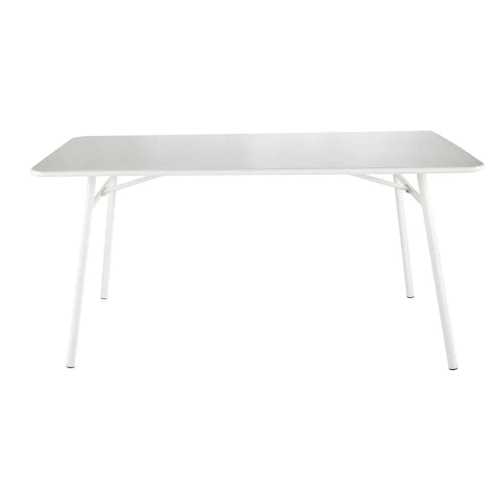 table de jardin en m tal blanche l 160 cm harry 39 s maisons du monde. Black Bedroom Furniture Sets. Home Design Ideas
