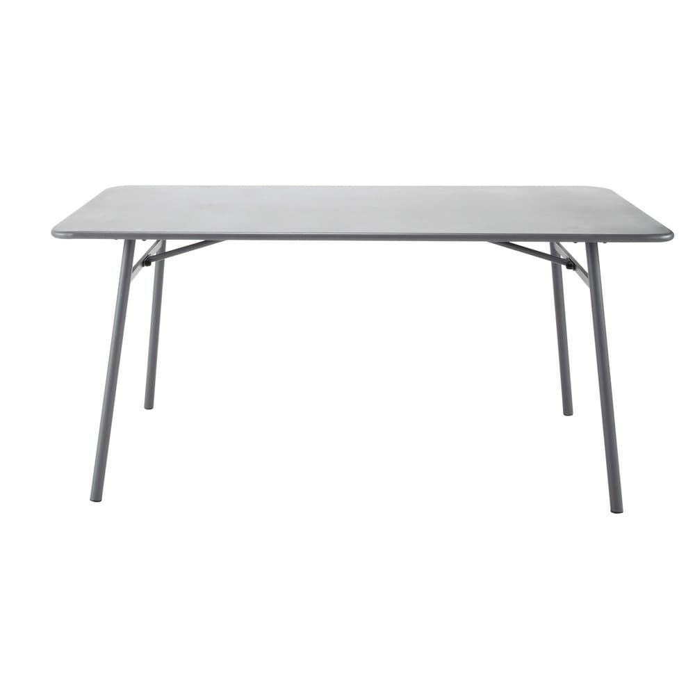Table de jardin en m tal l 160 cm harry 39 s maisons du monde - Table de jardin metal ...