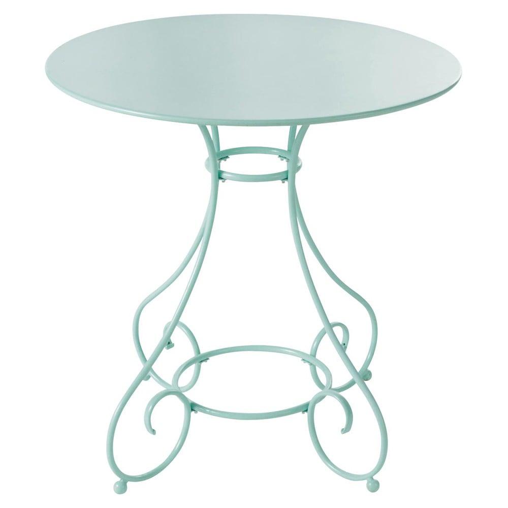 Table de jardin en m tal verte d 70 cm mary maisons du monde for Table de jardin maison du monde