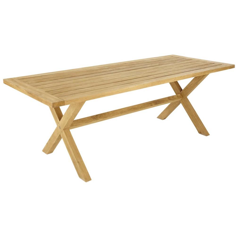 Table de jardin en teck l 220 cm guernesey maisons du monde for Table de jardin maison du monde
