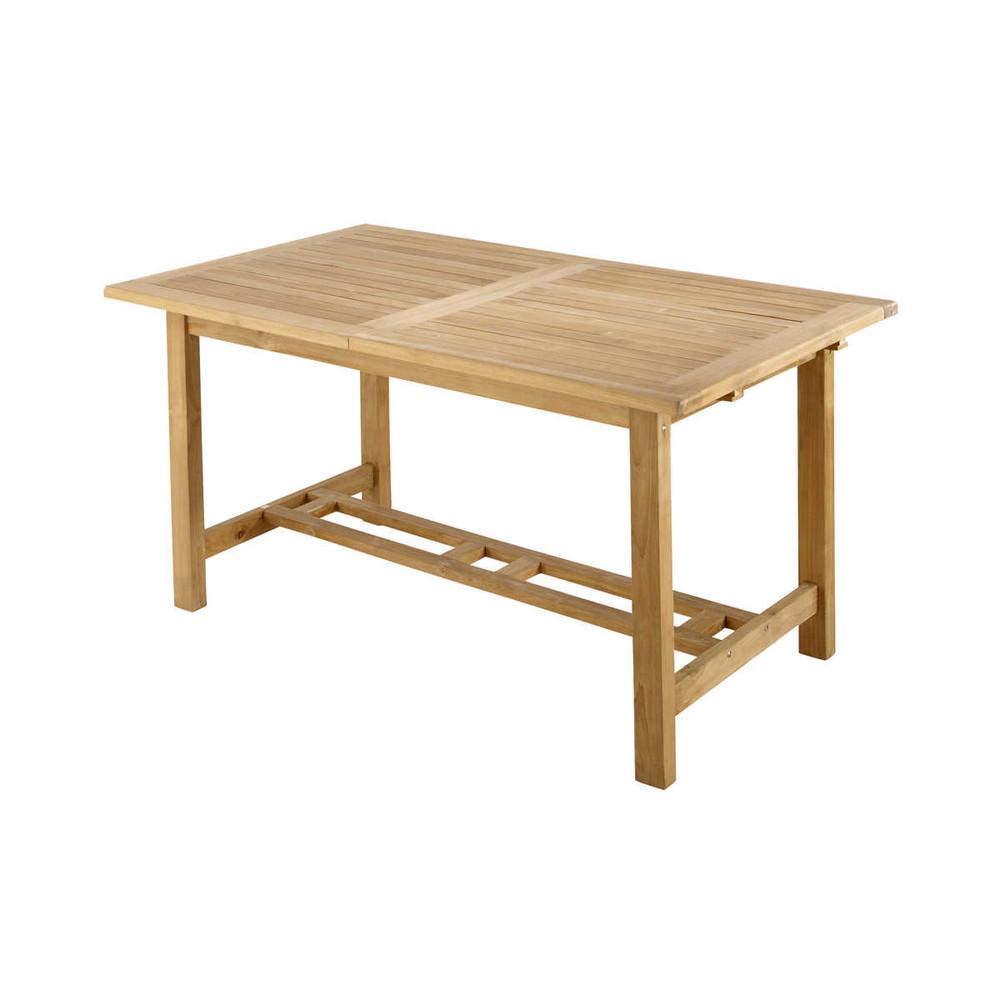 Table de jardin en teck massif l 157 cm ol ron maisons for Table jardin en teck