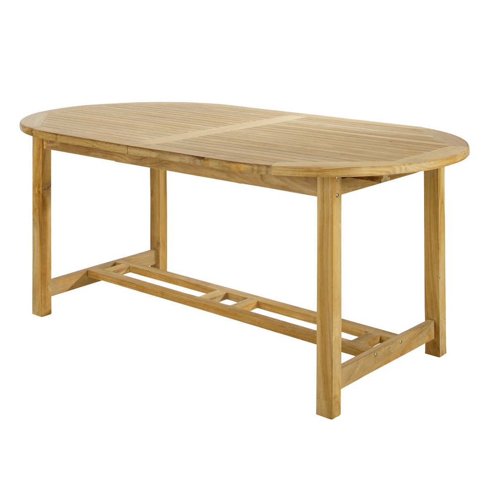 table de jardin en teck massif l 187 cm ol ron maisons du monde. Black Bedroom Furniture Sets. Home Design Ideas