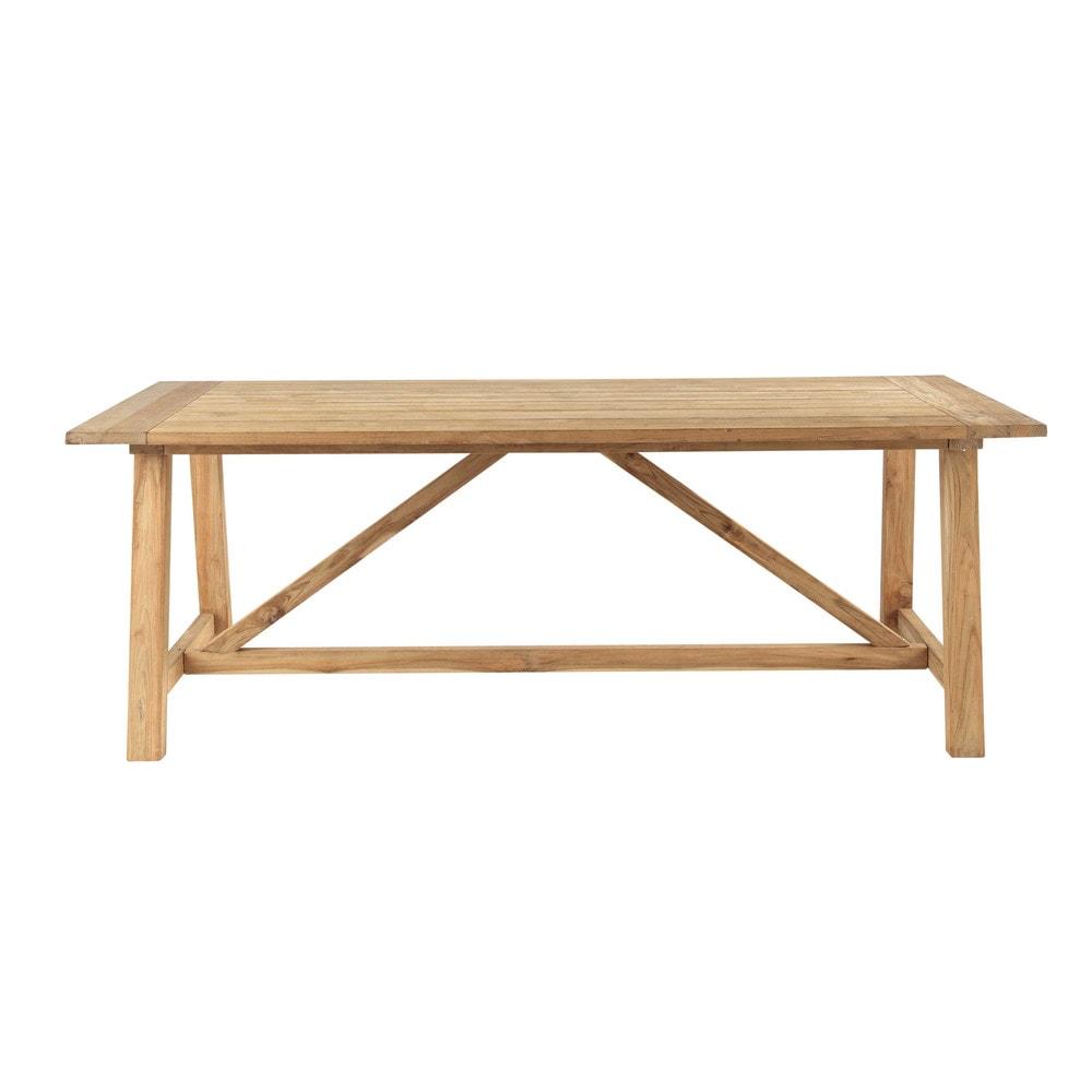 table de jardin en teck recycl l 220 cm riva maisons du. Black Bedroom Furniture Sets. Home Design Ideas