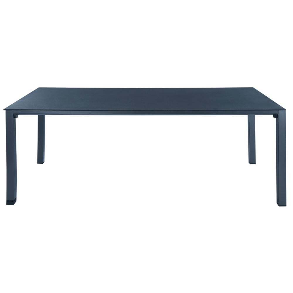 table de jardin en verre tremp et aluminium anthracite l 220 cm square garden maisons du monde. Black Bedroom Furniture Sets. Home Design Ideas