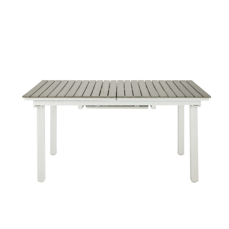 Table de jardin extensible 6 10 personnes en aluminium et composite L157  Escale   Maisons du Monde 4f07f1ec3fe0