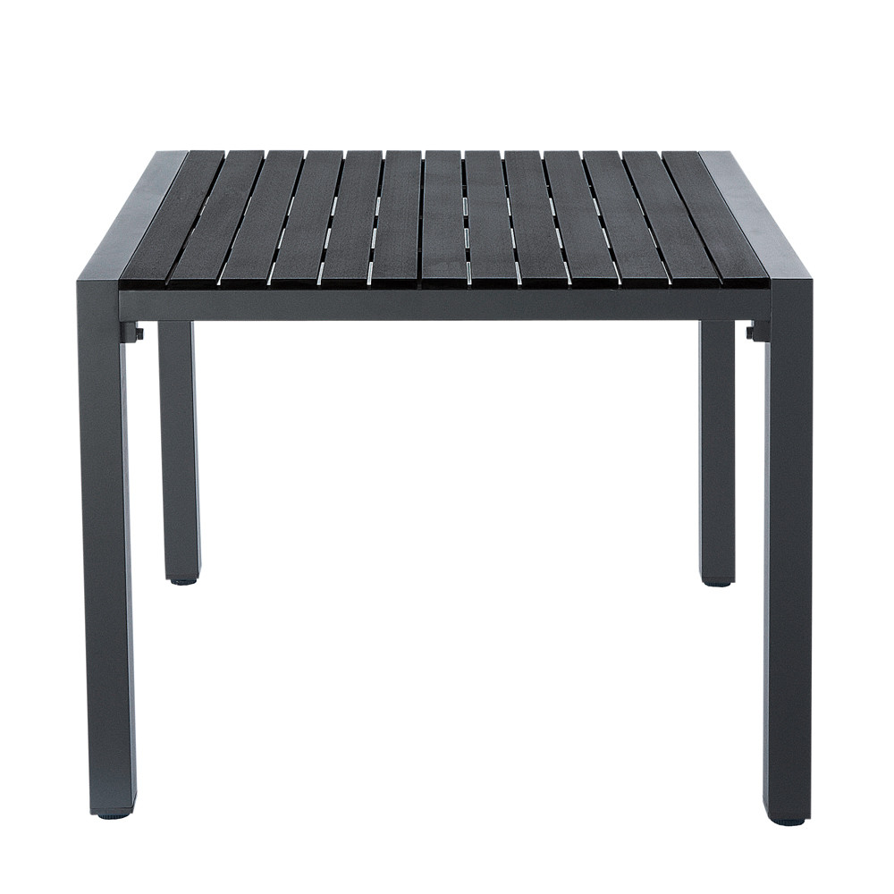 table de jardin noire carr e stromboli maisons du monde. Black Bedroom Furniture Sets. Home Design Ideas
