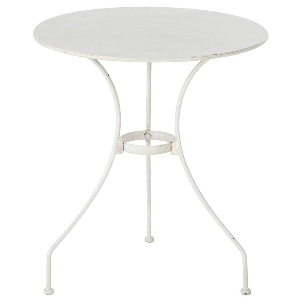 Table de jardin pour enfant en m tal et fer forg ivoire d 47 cm st germain maisons du monde for Petite table de jardin maison du monde