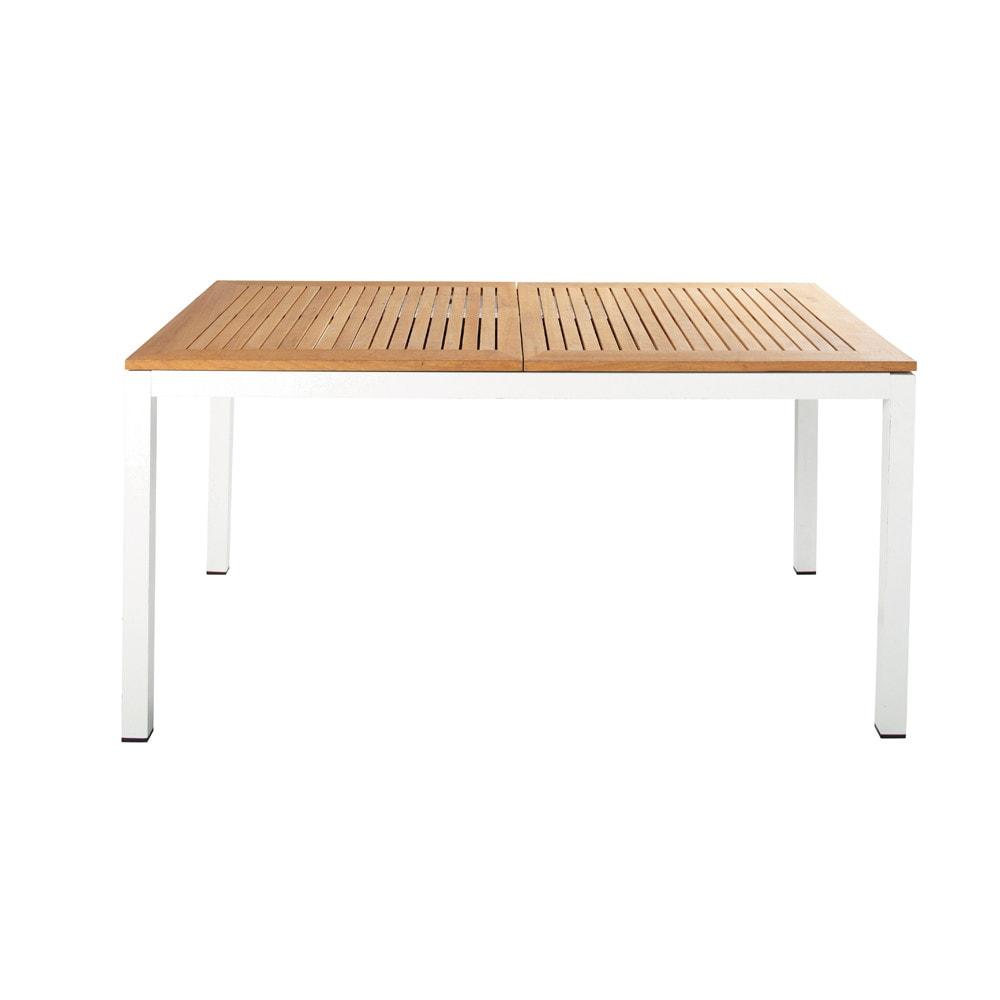 Table de jardin rectangulaire teck croisiere maisons du - Table jardin maison du monde ...