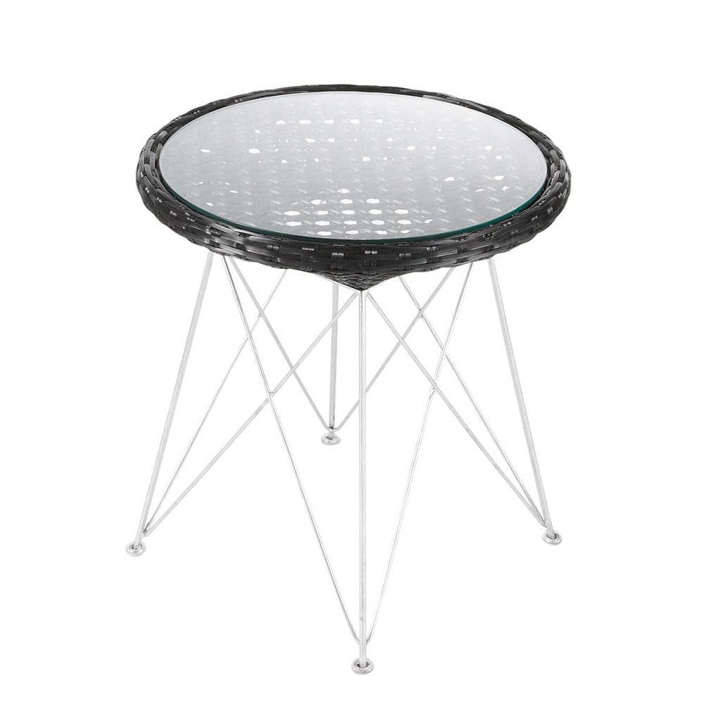 Table De Jardin Tress E En Aluminium Et M Tal Noire D 50