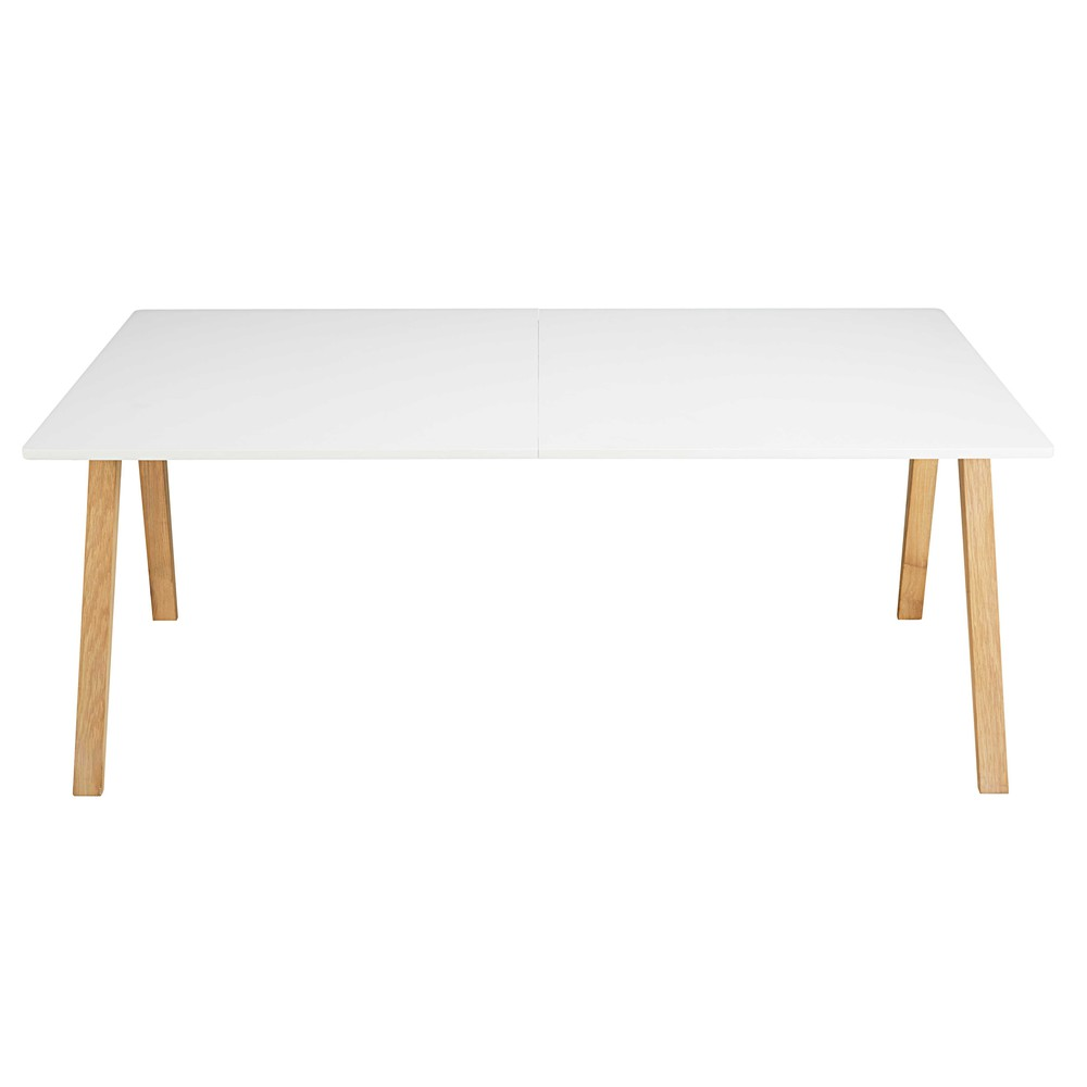 Table de salle manger rallonge blanche ghost for Table blanche a rallonge