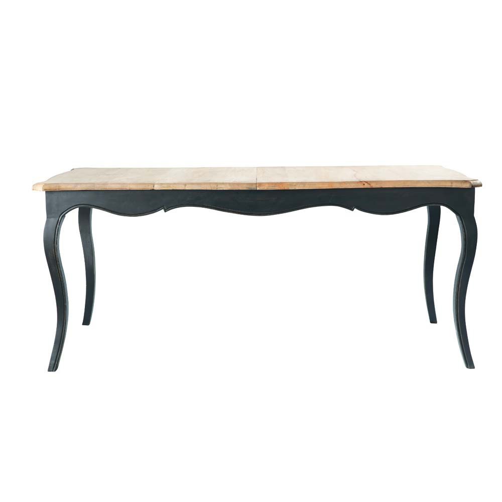 table de salle manger rallonge en bois l 180 cm versailles maisons du monde. Black Bedroom Furniture Sets. Home Design Ideas