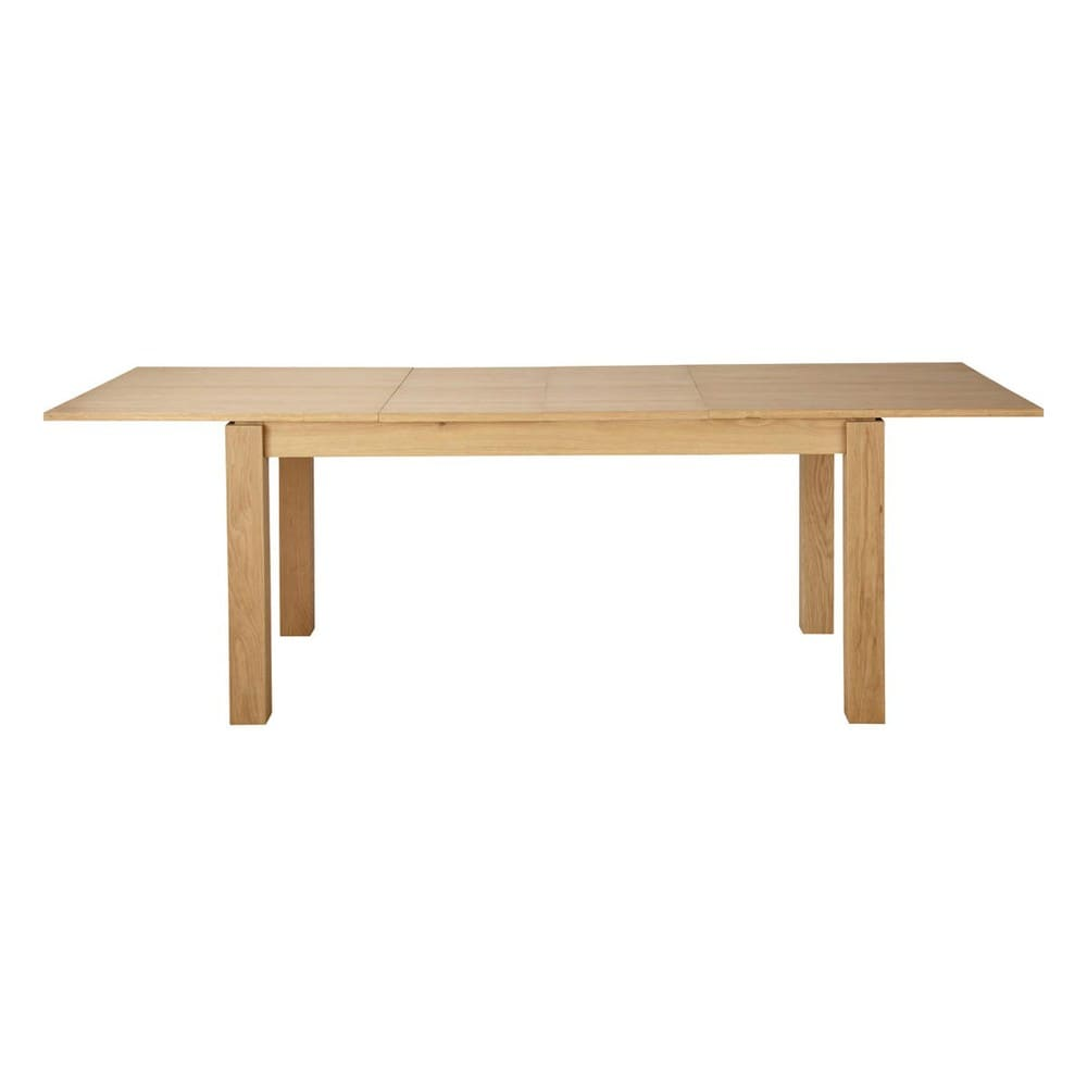 Table de salle manger rallonges en bois l 160 cm for Table stockholm maison du monde