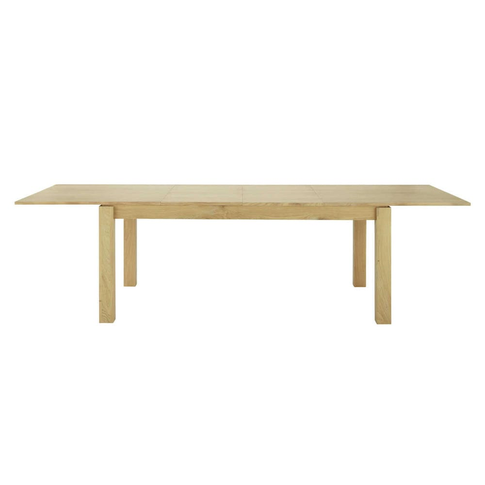 table de salle manger rallonges en bois l 200 cm. Black Bedroom Furniture Sets. Home Design Ideas
