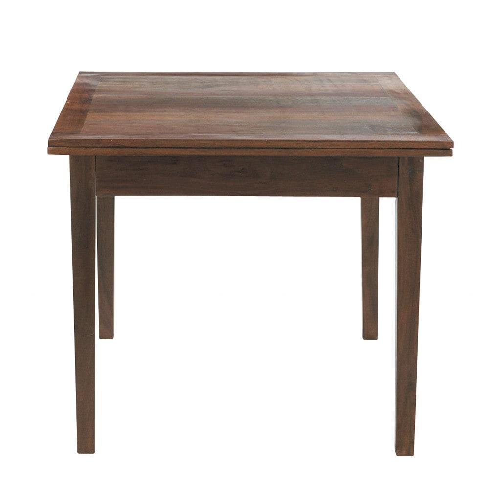 Table de salle manger rallonges en bois l 90 cm clic for Table salle a manger en bois