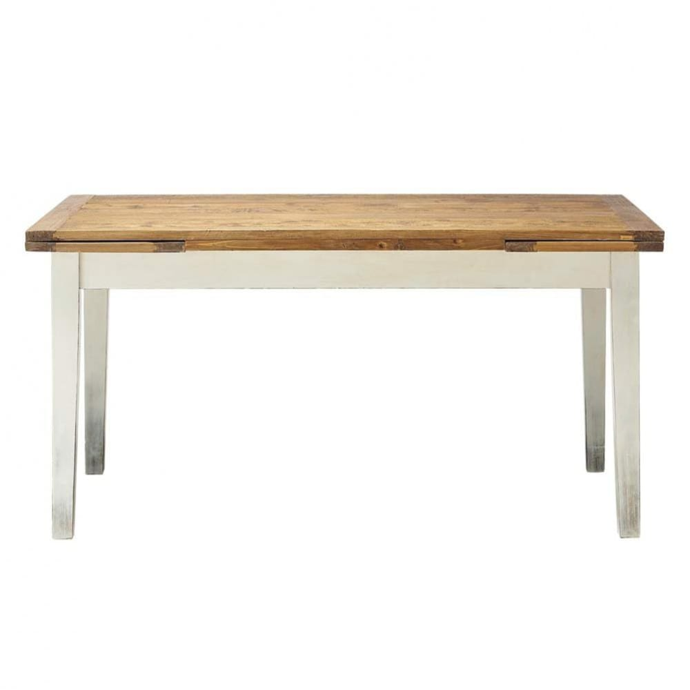 Table de salle manger rallonges en bois massif l 160 for Table de salle a manger evolutive