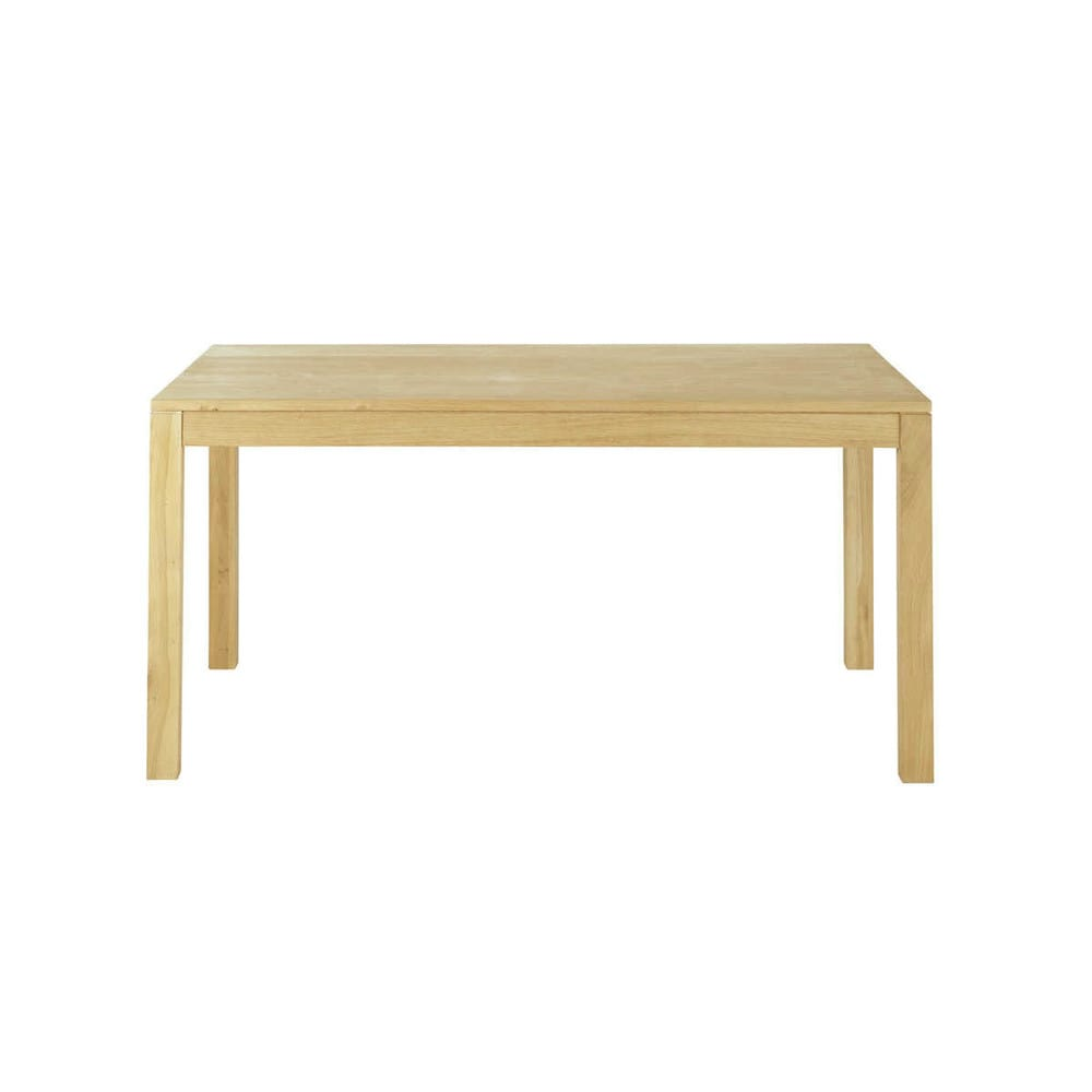 table de salle manger rallonges en ch ne massif l 160 cm hambourg maisons du monde. Black Bedroom Furniture Sets. Home Design Ideas