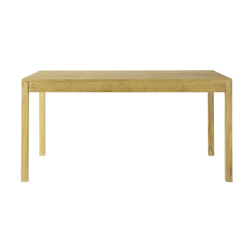 Table de salle manger rallonges en teck l 160 cm for Table de salle a manger 160 cm