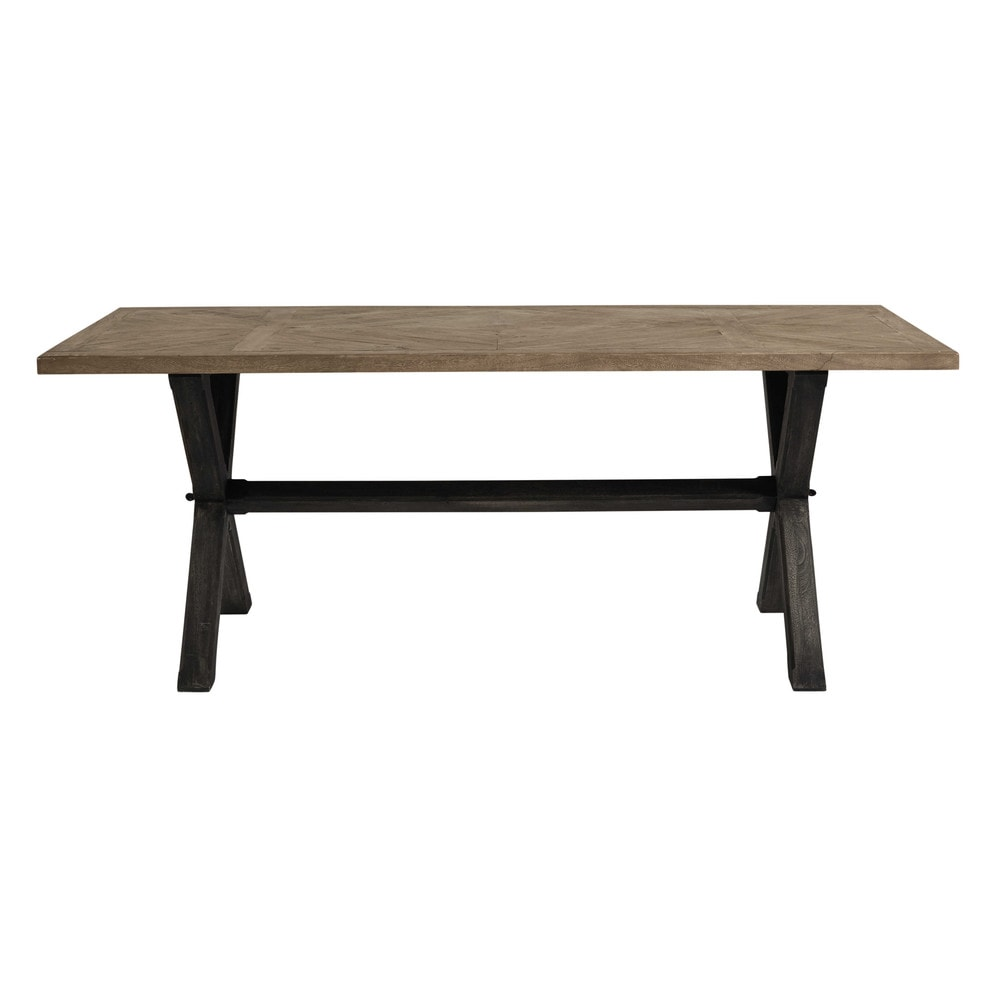 Table de salle manger en acacia l 200 cm ellis maisons - Dimensions table a manger ...