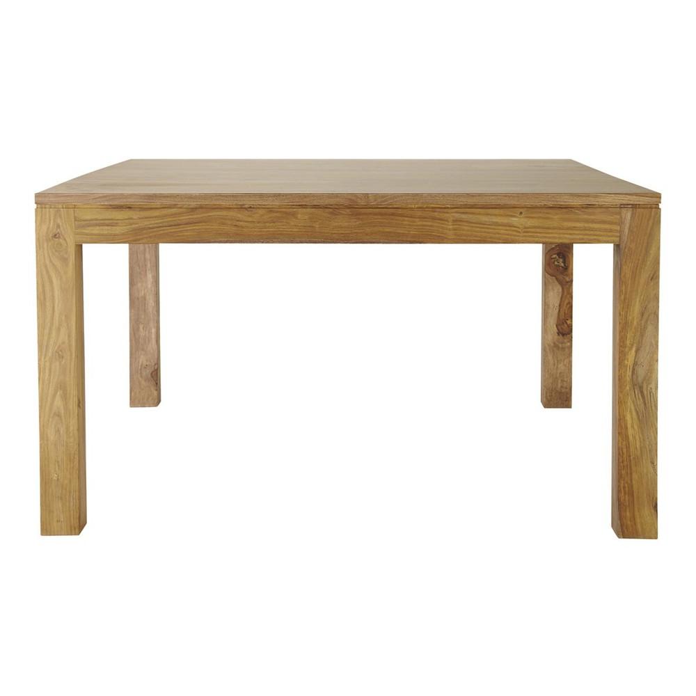 Table de salle manger en bois de sheesham massif l 140 for Salle a manger en l