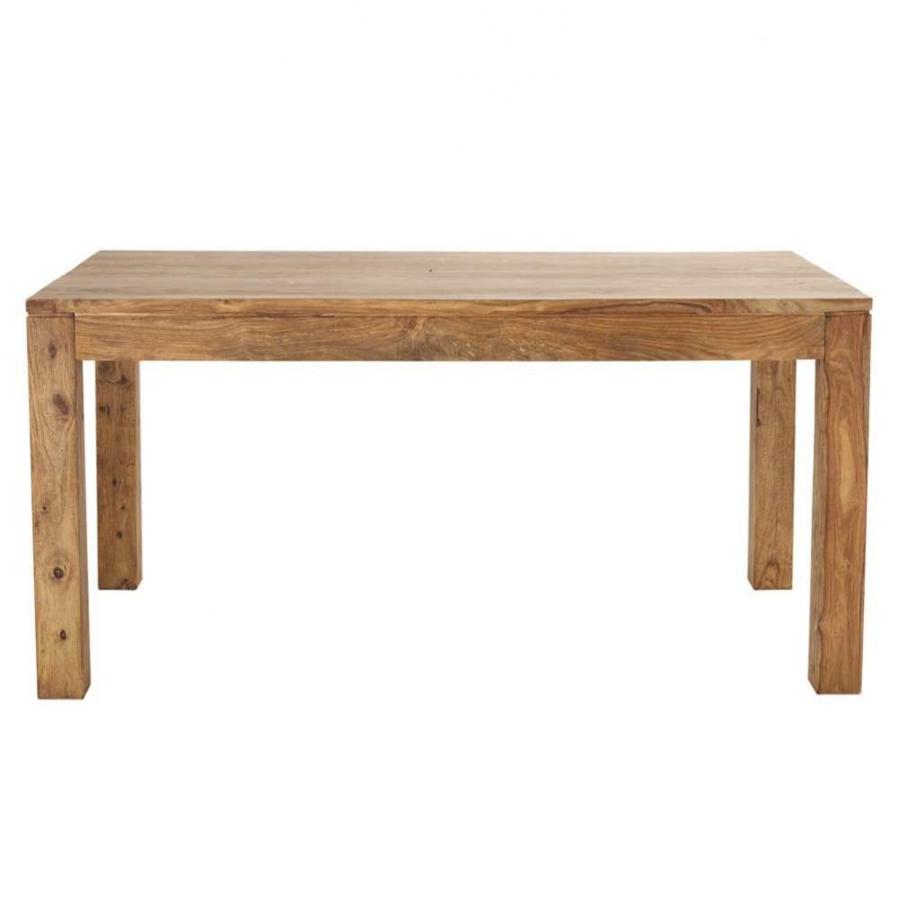 Table de salle manger en bois de sheesham massif l 160 - Salle a manger bois exotique ...